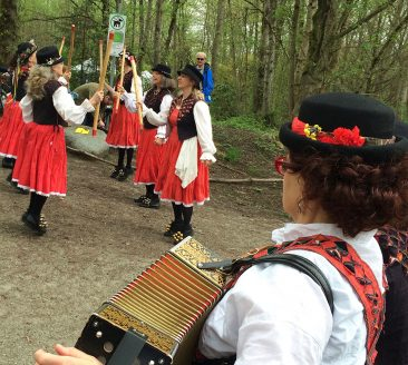 Tiddley Cove Morris Dancers entertained the crowd at Earth Day in Everett Crowley Park on April 22.