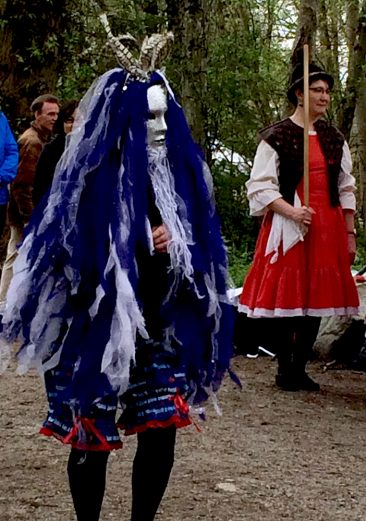 Tiddley Cove Morris Dancers were trying to scare away winter at Earth Day in Everett Crowley Park.